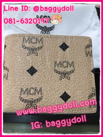กระเป๋าสตางค์ MCM ใบสั้น สองพับ **เกรดAAA*** (เลือกลายด้านในค่ะ)