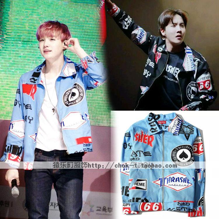 เสื้อแจ็กเก็ต (Jacket) THRASHER แบบ BTS