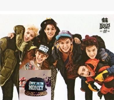 หมวกแฟชั่น EXO MONEY สีดำ
