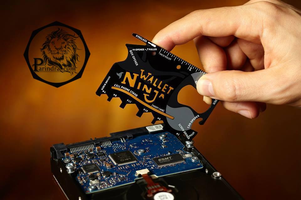 """เครื่องมืออเนกประสงค์ 18 ชนิด """" Wallet Ninja"""""""