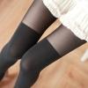 [พร้อมส่ง] P4710 ถุงน่องครึ่งขาสไตล์ญี่ปุ่น แบบคล้ายถุงเท้ายาว ส่วนบนสีดำ ส่วนล่างสีดำหนา