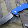 "RHK XM18 3.5"" Skinner Battle Black Blade Blue G-10"