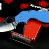 Spyderco Lava Blue G-10 Sprint Run C110GPBL