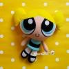 """ตุ๊กตาบับเบิลส์เดอะพาวเวอร์พัฟเกิร์ล (Bubble - The powerpuff girl) size about 7"""""""