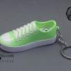 ไฟแช็ค รูปรองเท้าผ้าใบ สีเขียวอ่อน
