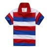 เสื้อคอปกลายขวางแดงน้ำเงิน [size 2y-3y-4y-7y]