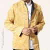 ชุดจีน ชาย เสื้อผ้าแพร สีทอง / ดำ ใส่ได้สองด้าน