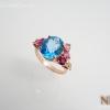 แหวนเงินบลูโทปาซ (Silver ring blue topaz)