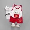 ชุดเซตเสื้อกล้ามลายน้องหมี+กางเกงสีแดง [size 6m-1y-2y-3y]