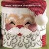 ชุดปักแผ่นเฟรมกล่องใส่ของลายซานต้า