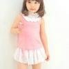 ชุดเซ็ตเสื้อกางเกงระบายสีชมพู แพ็ค 2 ชุด [size 3y-4y]