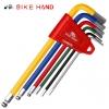 ชุดหกเหลี่ยม BIKEHAND Hex Key Set MTB Road Bike Repair Tool Kit Service Wrench Colorful 6 PCS,YC-613-6C