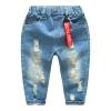 กางเกงยีนส์เด็กสียีนส์กลางพร้อมป้ายสีแดงตรงเอว แพ็ค 4 ชิ้น [size: 2y-6y]