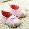 รองเท้าหัดเดินเด็กเล็กลายแต่งโบว์สีชมพู [size 11-12]