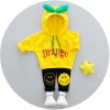 ชุดเซตเสื้อแขนยาวมีฮู้ดสีเหลือง+กางเกงขายาวสีดำ แพ็ค 4 ชุด [size 1y-2y-3y-4y]