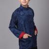 ชุดจีน ชาย เสื้อคอจีน ผ้าแพร สีแดง / น้ำเงิน ใส่ได้สองด้าน