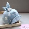 หมวกเด็กลายกระต่ายสีฟ้า