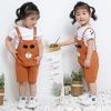 ชุดเซตเสื้อสีขาว+เอี๊ยมหมีสีน้ำตาล แพ็ค 3 ชุด [size 6m-1y-2y]