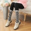 [พร้อมส่ง] L6745 เลกกิ้งเนื้อถุงเท้ากันหนาว แบบเต็มตัว ทอลายถุงเท้าลายตาราง เก๋ๆ