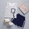 ชุดเซตเสื้อกล้ามลายทางสีขาว แพ็ค 4 ชุด [size 6m-1y-2y-3y]