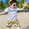 ชุดเซตเสื้อสีขาวลาย holiday + กางเกงขาสั้นสไตล์บาหลีของเด็ก แพ็ค 5 ชุด [size 2y-3y-4y-5y-6y]