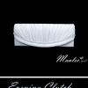 Sale พร้อมส่ง Evening Clutch กระเป๋าออกงาน สีขาวมุก