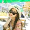 [พร้อมส่ง] H5454 หมวกปานามา ตกแต่งด้วยริบบิ้นคาดรอบหมวก เก๋ๆ สไตล์เกาหลี Korean Style