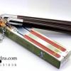 กระบองสองท่อน บรุซลี ด้ามไม้สีน้ำตาลอมแดง อุปกรณ์ป้องกันตัว
