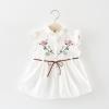ชุดเดรสสีขาวปักลายดอกไม้ที่หน้าอก แพ็ค 4 ชุด [size 6m-1y-18m-2y]