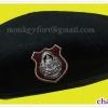 หมวกไบเล่ย์ สีดำ ผ้าสักกะหลาด พร้อมตราหน้าหมวกตำรวจ