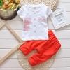 ชุดเซตตัวหนังสือสีแดง แพ็ค 4 ชุด [size: 6m-1y-2y-3y]