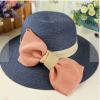[พร้อมส่ง] H5570 หมวกสาน Summer Hat ตกแต่งด้วยโบยักษ์เก๋ๆ สไตล์ญี่ปุ่น