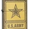 """ไฟแช็ค Zippo 28933 แท้ """"Zippo United States Army, Antique Brass"""" Lighter แท้นำเข้า 100%"""