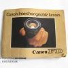 หนังสือ Canon Interchangeable Lenses หนังสือของเลนส์ยุคฟิล์ม PRINTED IN JAPAN (หายาก)