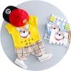 ชุดเซตเสื้อสีเหลืองลายน้องหมา+กางเกงสีน้ำตาล [size 1y-2y-3y]