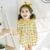ชุดเดรสแขนยาวลายอมยิ้มสีเหลือง แพ็ค 5 ชุด [size 6m-1y-18m-2y-3y]