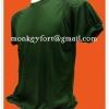 เสื้อยืด สีเขียวขี้ม้า บุไหล่