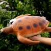 โมเดลเต่าทะเลสีน้ำตาล ขนาด 15 นิ้ว ยางอ่อนนุ่มนิ่ม บีบได้