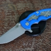RHK Jurassic Spearpoint Working Finish Spider Web Blue G10