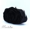 พร้อมส่ง Evening Clutch กระเป๋าออกงาน รูปดอกกุหลาบ เนื้อซาตินสวย พร้อมสายโซ่ สั้น-ยาว สีดำ