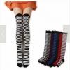 [พร้อมส่ง] L6696 ถุงเท้ายาวครึ่งขวา แบบลายขวางถี่ Striped Sock