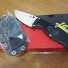 Spyderco FB31CPBK Enuff Clip Point VG10 Plain Blade, Black FRN Handles