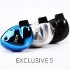 หูฟัง Tfz Exclusive5 Inear 2Graphene Drivers แบบคล้องหู เสียงระดับออดิโอไฟล์ สายแบบชุบเงิน รูปทรง Custom