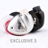 หูฟัง Tfz Exclusive3 Inear 2Graphene Drivers แบบคล้องหู เสียงเทพ ถอดสายได้ สายแบบชุบเงิน รูปทรง Custom เบสแน่นและนุ่ม รายละเอียดระดับเทพ