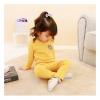 ชุดเซตแขนยาวสีเหลืองลายหมีบราวน์ที่หน้าอก แพ็ค 4 ชุด [size 1y-2y-3y-4y]