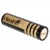 แบตเตอรี่สำหรับไฟฉาย UltraFire 18650 4000mAh 3.6-4.2V ชาร์จไฟใหม่ได้