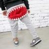 กางเกงขายาวสีเทาแต่งซิปปากฉลามตรงก้น แพ็ค 3 ชิ้น [size 4y-5y-6y]