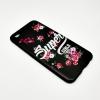 เคส OPPO R9S tpu สีดำด้านลายดอกไม้