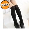 [ไซส์เด็ก] K7795 ถุงน่องเด็ก ลายทูโทน สีดำครึ่งขา