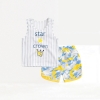 ชุดเซตเสื้อกล้ามกางเกงลายพรางสีเหลือง แพ็ค 4 ชุด [size 6m-1y-2y-3y]